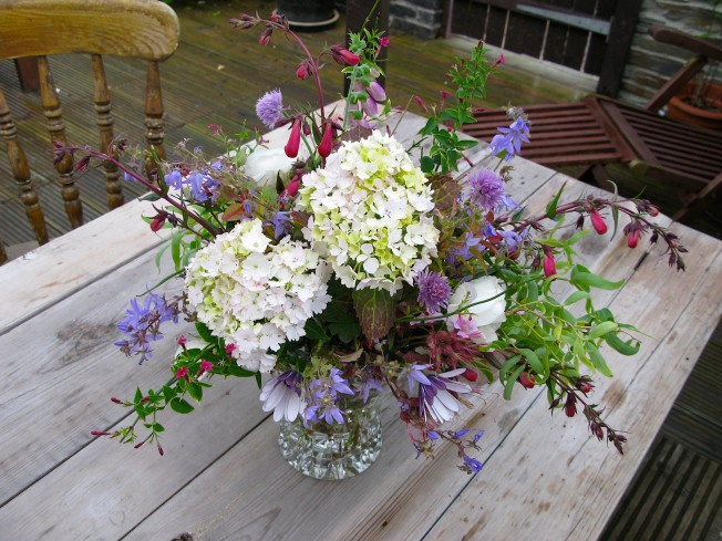 Flowers From Our Garden & Empty Chairs