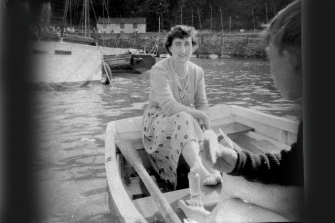 Mom Takes A Ride In The New Dinghy