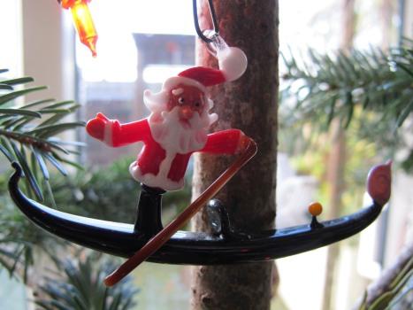 Santa In A Gondola