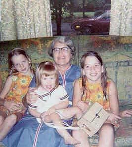 Margaret Harper, Wylly Folk St John, holding Pam Jones, & Elizabeth Harper