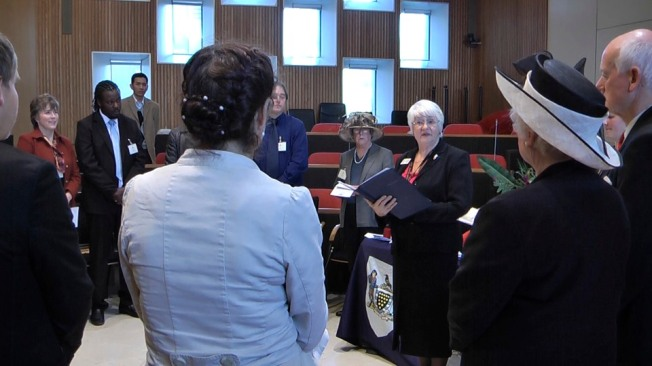 British Citizenship Ceremony - Elizabeth Harper, (Far Left)