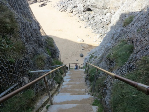 Steps to Beach at Bedruthan Steps