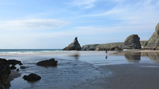 Beach at Bedruthan Steps - John Winchurch