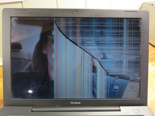 Cracked MacBook 15 inch screen