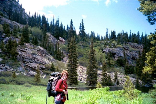 Elizabeth Harper, Backpacking in Colorado with Outward Bound