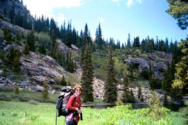 Elizabeth Harper, Backpacking in Colorado with Outward Bound